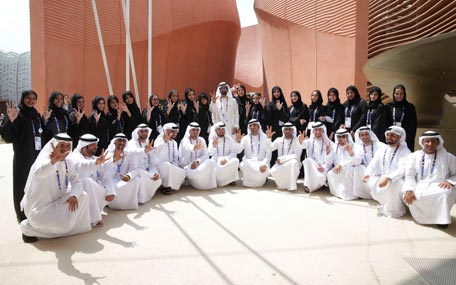 Sheikh Mohammed at Expo 2015: proud of UAE pavilion